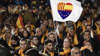 Le public d'un meeting du parti unioniste libéral Ciudadanos, le 19 décembre à Barcelone.