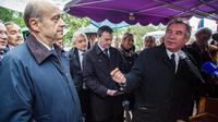 Alain Juppé et Francois Bayrou le 10 novembre 2013 à Saint-Leon-sur-Vezere [Yohan Bonnet / AFP/Archives]