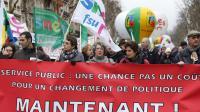 Des employés du service public (éducation, santé, finance) manifestent le 31 janvier 2013  [Pierre Verdy / AFP/Archives]