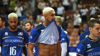 L'équipe de France, à l'issue d'un match perdu à l'Euro de volley contre la République tchèque à Katowice, le 30 août 2017 [PIOTR NOWAK / AFP/Archives]