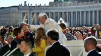Le pape François sur la place Saint-Pierre, le 12 octobre 2016 au Vatican [ALBERTO PIZZOLI / AFP/Archives]