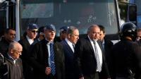 Le Premier ministre israélien Benjamin Netanyahu sur le site d'une attaque au camion, le 8 janvier 2017 à Jérusalem [AHMAD GHARABLI / AFP]