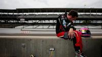 Le Français Franck Montagny, pilote de l'écurie Andretti Autosport, lors du Grand Prix d'Indianapolis d'IndyCar, le 9 mai 2014 [Nick Laham / Getty Images/AFP/Archives]