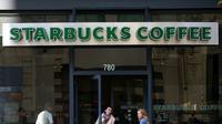 L'enseigne d'un café Starbucks  le 22 janvier 2015 à San Francisco [JUSTIN SULLIVAN / GETTY IMAGES NORTH AMERICA/AFP]