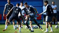 Séance d'entraînement pour les joueurs de l'équipe de France à Istra, le 27 juin 2018, à trois jours du choc contre l'Argentine [FRANCK FIFE / AFP/Archives]