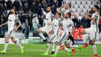 La Juventus victorieuse du FC Porto en 8e de finale de la Ligue des champions à Turin, le 14 mars 2017 [Miguel MEDINA / AFP]