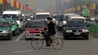 Cycliste en Chine