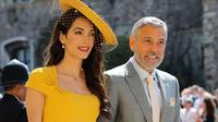 George Clooney est son épouse Amal lors du mariage de Meghan Markle.