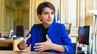 Najat Vallaud-Belkacem, la ministre de l'Education nationale, hier à Paris