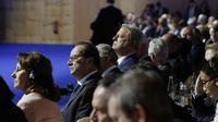 François Hollande, Al Gore et Ségolène Royal à la COP21, samedi 5 décembre 2015