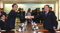 Une réunion bilatérale entre des représentants des deux Corées a eu lieu mardi 9 janvier.