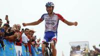Thibaut Pinot a remporté en solitaire la 15e étape de la Vuelta.