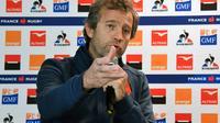 Le sélectionneur du XV de France Fabien Galthié, lors d'un point-presse en marge de la présentation de son staff technique, le 13 novembre 2019 à Montgesty [PASCAL PAVANI / AFP/Archives]