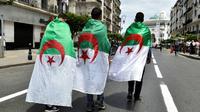 Des étudiants manifestent à Alger, le 19 mai 2019 [RYAD KRAMDI                         / AFP/Archives]