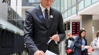 L'économiste Gitanas Nauseda, arrivé en tête du premier tour de l'élection présidentielle en Lituanie, a voté par anticipation le 10 mai 2019 à Vilnius [Petras Malukas / AFP]