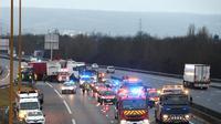 Le nombre de morts sur les routes de France a connu un léger recul en 2017, avec 3.693 tués en métropole et Outre-mer confondus, soit 45 de moins qu'en 2016 [Lionel BONAVENTURE / AFP/Archives]