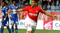 Rony Lopes auteur du but décisif pour l'AS Monaco à Troyes, le 19 mai 2018 [FRANCOIS NASCIMBENI / AFP]