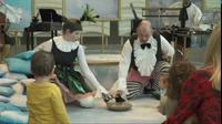 """Capture d'image d'une vidéo montrant des chanteurs du Scottish Opera interprétant """"BambinO"""", un opéra destiné aux bébés de 6 à 18 mois, le 13 avril 2018 à Paris [HASSAN AYADI, RANA MOUSSAOUI / AFPTV]"""