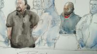 Croquis d'audience du procès de Jawad Bendaoud, le 26 janvier 2017 au tribunal de Bobigny [Benoit PEYRUCQ / AFP]