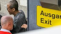 Liu Xia, la veuve du dissident chinois Liu Xiaobo, à son arrivée à Berlin, le 10 juillet 2018 [Jörg Carstensen / dpa/AFP]