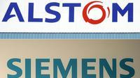 Alstom et Siemens ont décidé de regrouper leurs activités ferroviaires pour contrer la concurrence chinoise [SEBASTIEN BOZON, CHRISTOF STACHE / AFP/Archives]