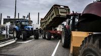 Blocage de la raffinerie de Feyzin près de Lyon, le 13 juin 2018  [JEAN-PHILIPPE KSIAZEK / AFP]