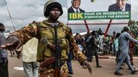 Soldat malien dans Bamako avant la présidentielle de dimanche, le 27 juillet  2018  [ISSOUF SANOGO / AFP]
