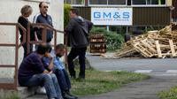 Dernière étape judiciaire pour les salariés de GM&S, photographiés dans leur usine de La Souterraine le 24 juillet 2017 [PASCAL LACHENAUD / AFP/Archives]
