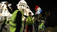 """Manifestation de """"gilets jaunes"""" à Nice, le 15 novembre 2018 [VALERY HACHE / AFP]"""