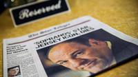 L'acteur James Gandolfini en une du Newark Star-Ledger, le 20 juin 2013  [Andrew Burton / Getty Images/AFP/Archives]