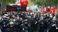 Manifestation contre la loi travail, le 17 mai 2016 à Paris [THOMAS SAMSON / AFP]