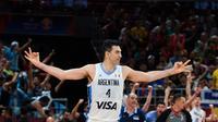 L'Argentin Luis Scola lors du match contre la France en demi-finales du Mondial de basket, le 13 septembre 2019 à Pékin   [Greg Baker / AFP]