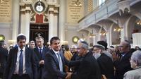Le Premier ministre Manuel Valls dans une synagogue à Mulhouse, le 2 septembre 2012 [Sebastien Bozon / AFP/Archives]