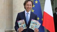 L'animateur télé Stéphane Bern pose à l'Elysée, le 31 mai 2018 [ludovic MARIN / AFP/Archives]