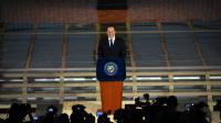Juan Carlos Varela, président du Panama, lors d'un discours sur la place Bolivar, à Panama City le 6 avril 2016  [RODRIGO ARANGUA / AFP/Archives]