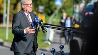Le président de la Commission européenne Jean-Claude Juncker à son arrivée au sommet européen de Tallinn, en Estonie, le 29 septembre 2017 [JANEK SKARZYNSKI / AFP]