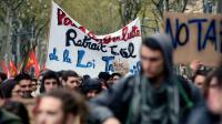 Manifestation contre la loi Travail, le 5 avril 2016 à Toulouse [ERIC CABANIS / AFP]