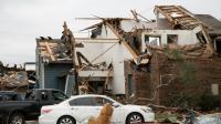 Habitations détruites après le passage d'une tornadele 28 décembre 2015 à Garland au Texas [LAURA BUCKMAN / AFP]