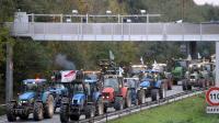 Des agriculteurs manifestent avec leurs tracteurs le 8 novembre 2013 près de Valenciennes [Francois Lo Presti / AFP/Archives]