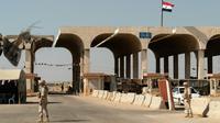 Le poste-frontière de Nassib, entre la Syrie et la Jordanie, le 14 août 2018 [Andrei BORODULIN / AFP/Archives]