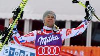 Le Français Alexis Pinturault, vainqueur du petit globe du Super-combiné, le 19 février 20116 à Chamonix [PHILIPPE DESMAZES / AFP]