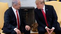Le président américain Donald Trump et le Premier ministre israélien Benjamin Netanyahu, le 25 mars 2019 à la Maison Blanche, à Washington [SAUL LOEB / AFP/Archives]