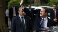 L'ex-Premier ministre David Cameron quittant le 10, Downing Street, à Londres, le 13 juillet.