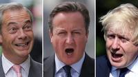 Nigel Farage, David Cameron et Boris Johnson ont été les acteurs majeurs de la campagne du référendum sur le Brexit de juin 2016, dans le camp du «Remain» ou dans celui du «Leave».