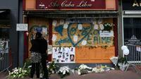 """La façade du bar """"Cuba Libre"""" le 6 août 2017 à Rouen, un an après l'incendie qui a fait 14 morts  [CHARLY TRIBALLEAU / AFP/Archives]"""