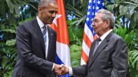 Le président américain Barack Obama et son homologue cubain Raul Castro à La Havane le 21 mars 2016 [NICHOLAS KAMM / AFP]