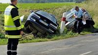 Un accident de la route le 30 juin 2013 à  Godewaersvelde dans le nord de la France [Philippe Huguen / AFP/Archives]
