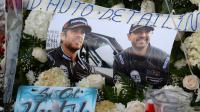 Des bougies et des photos pour commémorer le souvenir de Paul Walker, décédé le 30 novembre 2013 à Santa Clarita (Californie) dans un accident de voiture, une porsche conduite par un ami [Robyn Beck / AFP/Archives]