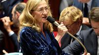 La garde des Sceaux Nicole Belloubet à l'Assemblée nationale, le 24 octobre 2018 [Bertrand GUAY / AFP/Archives]