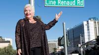 La chanteuse et comédienne française Line Renaud lors de l'inauguration d'une rue à son nom, le 28 septembre 2017 à Las Vegas [VALERIE MACON / AFP]